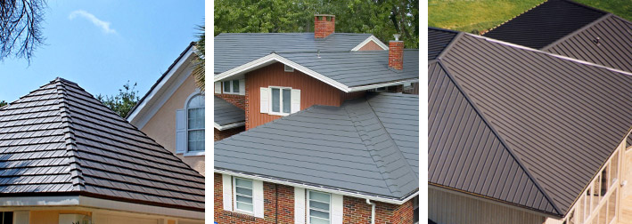 different metal roofing styles